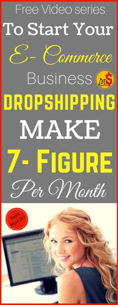 Make money from home in 2017. Dropshipping : How to Start an Ecommerce Business (Even If You Don't Have a Product).Start dropshipping (E-commerce business) to earn passive income from home. Dropshipping business is the one of best side hustle and world's fastest growing business. So Start your own e commerce business and start making money from home. Click the pin to see how >>>