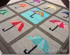 Paper Pieced Umbrella Mini Quilt