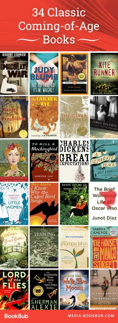 34 classic coming-of-age books that both adults and teens are sure to love  || Ideas and inspiration for teaching GCSE English || www.gcse-english.com ||