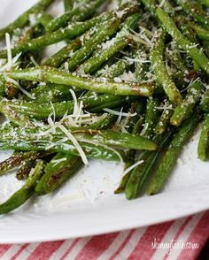 roasted parmesan green beans by janette