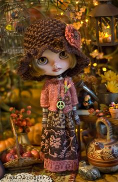 Autumn Earth. Bohemian Dress Knitted Sweater by SugarMountainArt