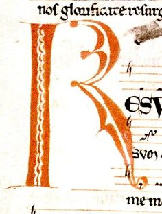 """R"". music page. Irish 12th cent. detail.bodl_Rawl.C.892 | by tony harrison"