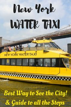 New York Water Taxi is the best way to see the city! With its hop on and hop off stops you can tour the city much more efficiently and explore all of New York's neighborhoods. Great for kids too.