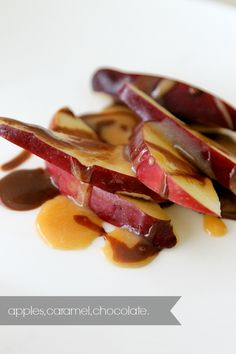 cut up apples, homemade caramel and Philadelphia Snack Delights Chocolate. Warmed up for about 15 seconds and drizzled over! Tasty, yummy~ http://www.kraftrecipes.com/recipes/dessert/philadelphia-snack-delights.aspx