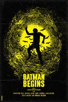 Batman Begins Minimal Movie Poster By Daniel Norris Best Movie Posters, Classic Movie Posters, Minimal Movie Posters, Minimal Poster, Cinema Posters, Movie Poster Art, Cool Posters, Gig Poster, Classic Films
