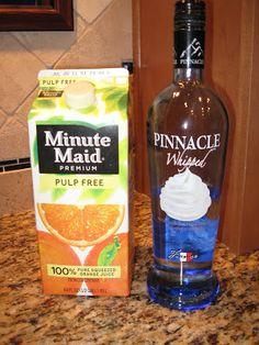 Orange Creamsicle Alcoholic Drink Recipe   Bring to the Party: 2 oz Orange Juice, 2 oz Whipped Cream Vodka