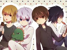 Aww, so cute! L, Light, Mello and Near :)