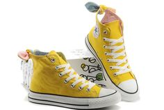 8ec69bf26291 Converse All Star Yellow Bowknot Girl Women Ladies High Tops Canvas Shoes  VIVI Magazine Recommend Yellow
