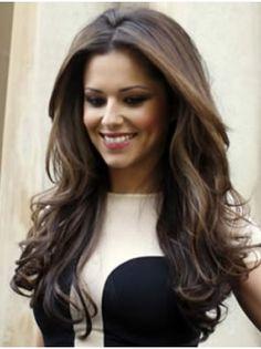 "24"" Brown Wavy Modern Cheryl Cole Wigs"