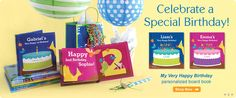 Please browse our award-winning selection of personalized children's books & gifts that will show your child how special they are! Very Happy Birthday, Special Birthday, Personalized Books For Kids, Little Boy And Girl, Board Book, Book Gifts, Friends In Love, Children's Books, Gift Ideas