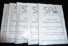 Spa Sciences Deep Line Smoothing Mask Professional Transdermal Facial Therapy 5x Applications by Spa Sciences. $8.00. Each Packet Contains Two Sheet Sections for One Application.. Professional Transdermal Therapy.. Clinically Proven Transdermal Technology and Recommended by Dermatologists.. Deeply Penetrating Transdermal Delivery System Helps Accelerate Delivery of Gatuline Expression, a Plant Based Active that Helps Reduce the Visible Appearance of Deep Line Wrinkles and Helps S...