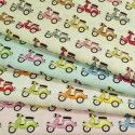Vespa Moped Scooters In Lines 100% Poplin Cotton Fabric