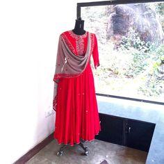 Tanney Red- Anarkali suit
