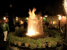 Pat O's famous fountain & Hurricanes