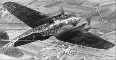 Heinkel He 111P-2 of KG 55 in special paint scheme for night operations.