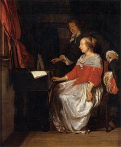 METSU, Gabriel Virginal Player c. 1661