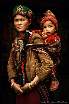 Nepal, Tamang Mother and Child.
