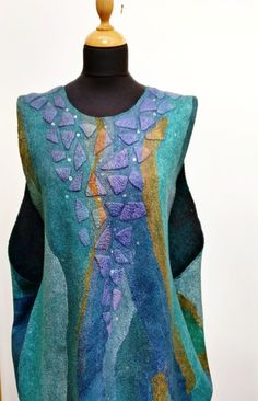 Lena Archbold creates lots of her nuno felt with Margilan silk. Margilan Silk is available to buy from her online shop. North East England, Creative Workshop, Types Of Craft, Nuno Felting, Textile Artists, Wearable Art, High Neck Dress, Textiles, Silk