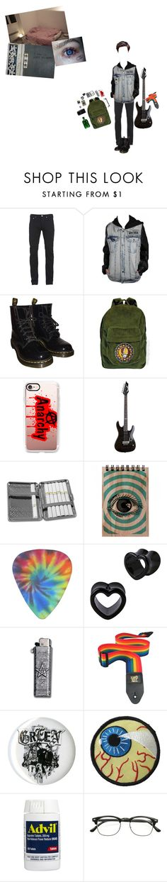 """shoot me"" by lilwolfy0 ❤ liked on Polyvore featuring Paul Smith, Dr. Martens, Casetify, Floyd, Chome, ZeroUV, Dolan, men's fashion and menswear"