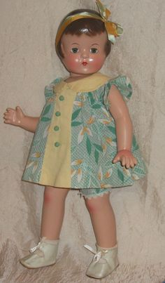 "Patsy Lou 22"" Composition Effanbee Patsy Family Doll 1930's Era Factory Clothes 