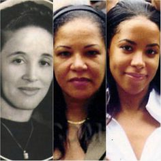 Aaliyah's Grandmother, Mom and Aaliyah