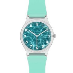 Cool way to customize a watch / great gift idea too!   Stockdale Donoghue  Swimming Pool Turquoise May28th Watch