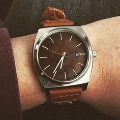 Nixon Time Teller Watch - For Him - Leather band - brown - DARK COPPER / SADDLE WOVEN by @wooden_brescia