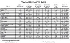 Fall Garden Planting Guide
