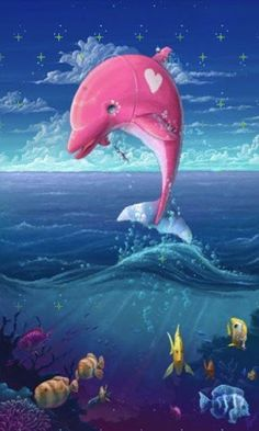 Pink Dolphin Wallpaper Tumblr
