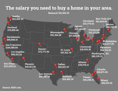 Your clients will need to earn more to afford a median-priced home in some of the country's largest cities. Check out this map to see just how much.