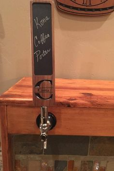 Crafted from a solid piece of walnut, this custom carved beer handle is a perfect gift or addition to your home bar or kegerator. With the recessed chalkboard insert (not chalkboard paint) your guest will always know what brew you have on tap. During checkout, please leave the following