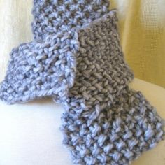 Great Gatsby Gray Chunky Knit Scarf for Father's Day.