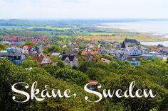 Beautiful countryside region of Skåne, Sweden. Mölle village at the picture.