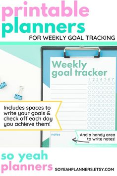 This blue and green planner printable habit tracker gives you a quick, cheap and easy way to make your home or office that little bit more organised and awesome! Simply purchase, print, and plan! Perfect for using as a water bottle tracker, fitness planner, cleaning tracker, and more! Simply write your planned goal on the left, and tick each day that you achieve it on the right! So simple, but super awesome! #planners #printables #planner #planning #organisation