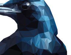 polygon art crow printable crow print crow best by PhilGDesign