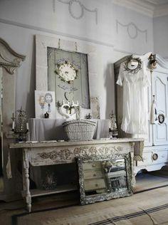 Shabby chic salon on pinterest vintage salon decor - Salones shabby chic ...