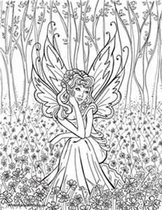 ADULT FAIRY COLORING PAGES | Coloringpages321. | Adult Coloring ...