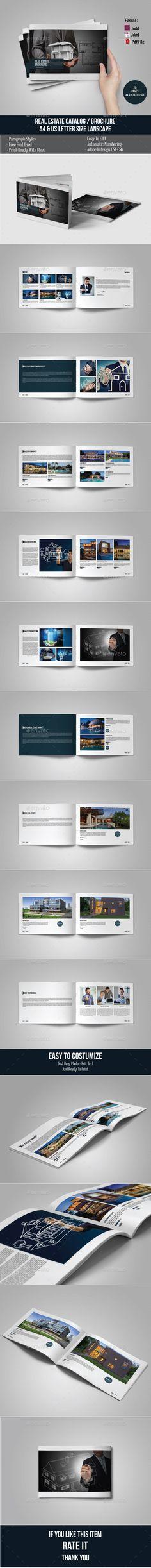 Real Estate Brochure/Catalog Template #design #broschüre Download: http://graphicriver.net/item/real-estate-brochurecatalog/12504995?ref=ksioks