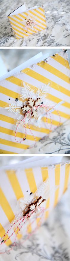 Beautiful. Little journals as gifts for Christmas. I wonder where I can get the white snowflake from...