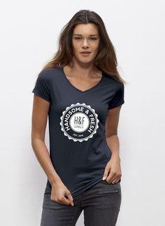 Bay - Damen T-Shirt mit V-Ausschnitt