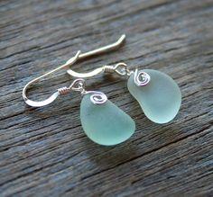 Seaglass earrings!