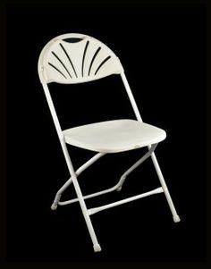 Folding Chair, White Millenium