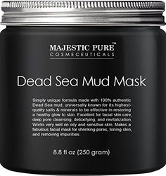 Majestic Pure Activated Charcoal MaskClear Complexion Facial Mask for Blackhead Shrinking Pores Fighting Acne Toning Skin & Removing Impurities - fl. Facial Skin Care, Facial Masks, Best Face Products, Pure Products, Beauty Products, Beauty Tips, Makeup Products, Amazon Products, Skin Products