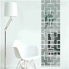 New Arrival Removable Acrylic Mirror Decal Mural Wall Sticker