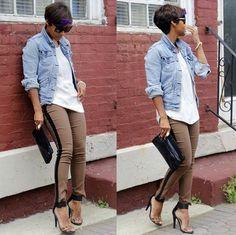 Jean jacket #howti #style