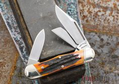 Tuna Valley Cutlery: Railsplitter Knife - Amber Stag - 052811