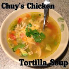 The Lewis Family: Chuy's Chicken Tortilla Soup Revisited {recipe}