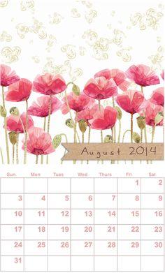 Free printable calendar, August, by Sweijko for Print - http://www.etsydigitaldesigners.com/2014-free-printable-calendar.php