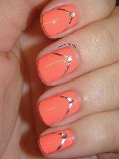 Cute flip-flop nails- #jessicasnailtales #coral #summernails