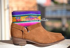LEATHER ETHNIC BOOTS Size 39 Brown Boots Ethnic por MISIGABRIELLA